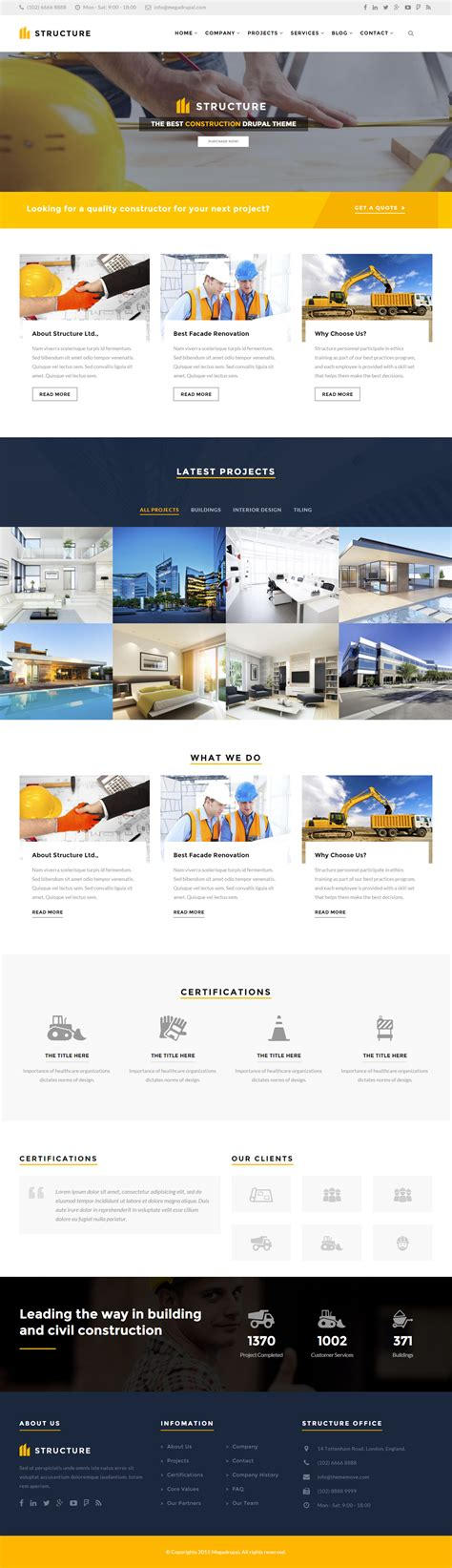 themes bootstrap construction structure is premium full responsive drupal