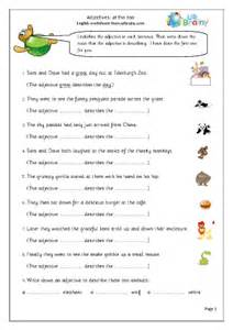 adjectives at the zoo english worksheet for key stage 1