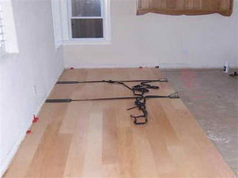 laying engineered hardwood flooring on concrete