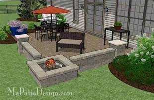Paver Patio With Fire Pit Large Rectangular Paver Patio Design With Fire Pit