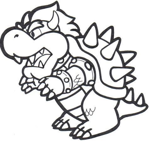 Bowser Coloring Page bowser coloring pages to print az coloring pages
