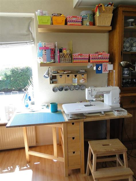 ikea folding craft my sewing space in the livingroom sewing spaces spaces
