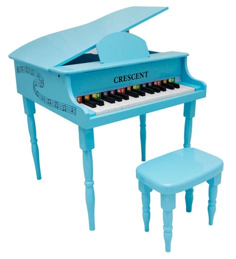 toddler piano with bench new crescent 30 keys baby toy grand piano with bench for
