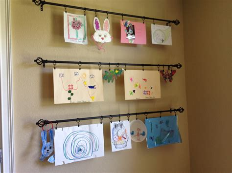 how to display art creative ways to display kids art