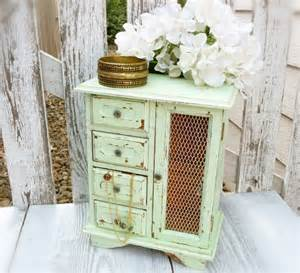 shabby chic jewelry boxes light green shabby chic jewelry box upcycled by