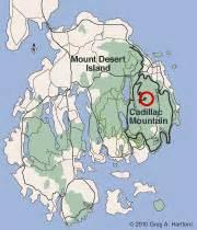 Cadillac Mountain Trail Map Cadillac Mountain Acadia National Park