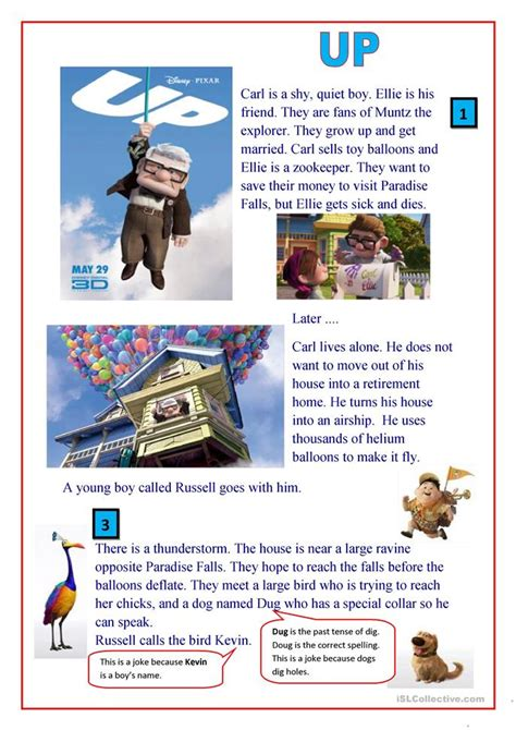 Up Film Teaching Resources | up the movie worksheet free esl printable worksheets