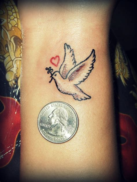 dove tattoo wrist dove tattoos with quotes quotesgram