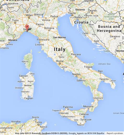 genoa world map genoa on map of italy world easy guides
