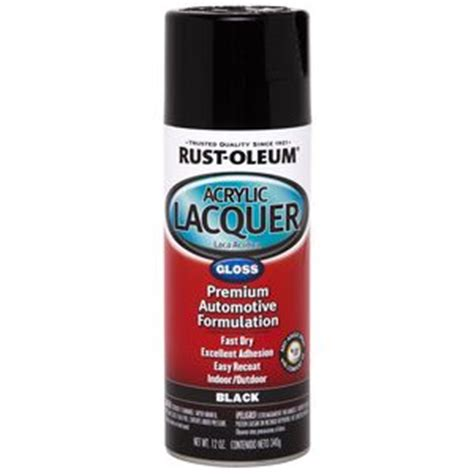 Rust Oleum Gloss black lacquer 253365   Read Reviews on