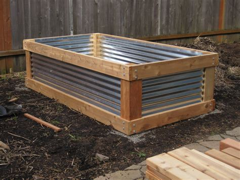 Raised Vegetable Garden Beds Corrugated Iron Gardening In Small Spaces Container Gardens Raised Beds