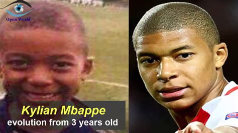 kylian mbappe years kylian mbappe from 3 to 18 years old youtube