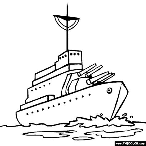 battleship colouring pages page 3