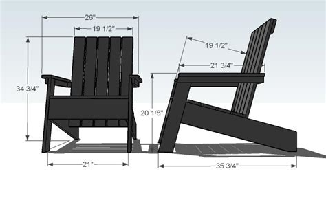 Furniture Modern Style Adirondack Chair Plans Free Modern Furniture Plans