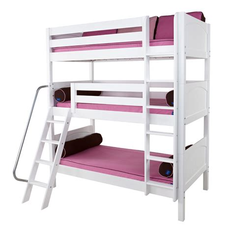triple bed moly panel medium triple bunk bed rosenberryrooms com