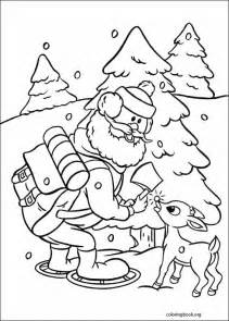 rudolph red nosed reindeer coloring 009 coloringbook org