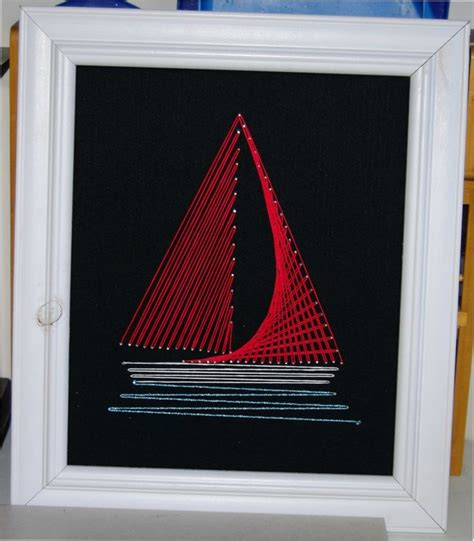 string art pattern boat pin by elaine rogers on string art pinterest