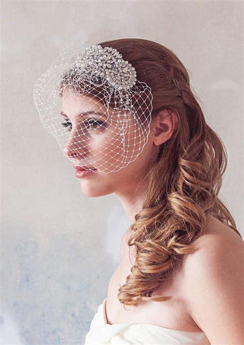 Wedding Hair Accessories Birdcage Veil by Wedding Veil Birdcage Veil Pearl And Embellished