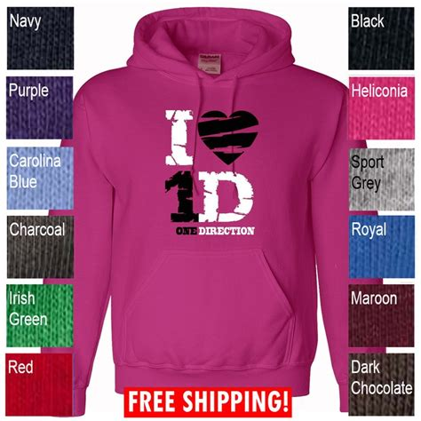 Hoodie One Direction Hitam 4 Zemba Clothing i one direction tour hoodie youth hooded sweater sweat shirt heli ebay 4