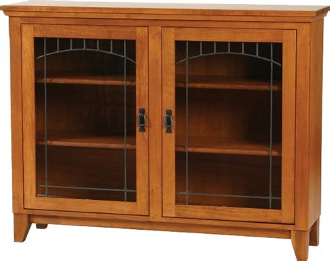 Mission Low Bookcase With Doors Low Bookcases With Doors