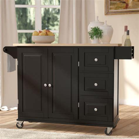black kitchen islands carts youll love wayfair