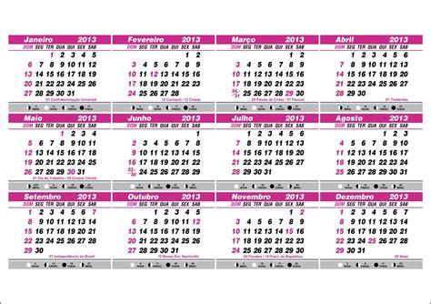 Calendario Fases Da Lua Calend 225 2013 Datas Comemorativas E Fases Da Lua