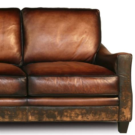 Distressed Leather Sofa Brown Distressed Handmade Brown Leather Sofa