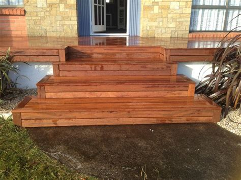Bbq Backyard Ideas New Wider Front Steps To New Deck In Merbau Deck And Bbq