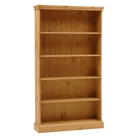 dorchester pine wide 6ft bookcase 5 shelves m264
