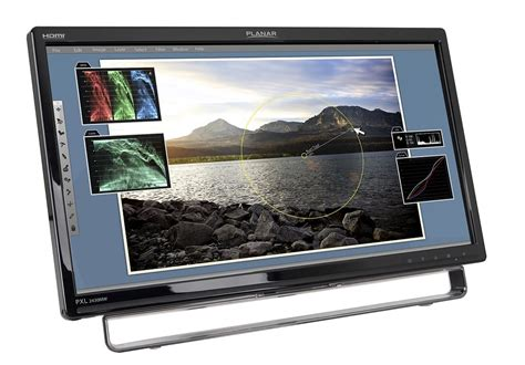 Monitor Led Touchscreen planar pxl2430mw 24 quot widescreen multi touch led monitor computers accessories