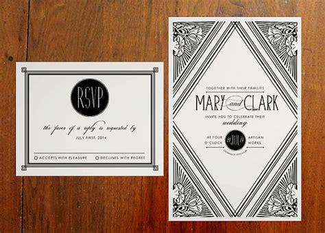 deco wedding invitation deco invitation suite deco wedding invitations and great gatsby wedding