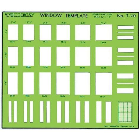 timely 188 quot scale double hung sash window template 20t