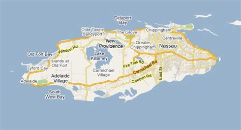 map of new providence three identified from lake killarney plane crash nassau