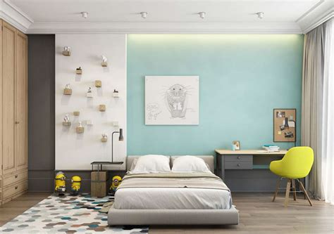 color block bedroom a pair of modern homes with distinctively bright color themes