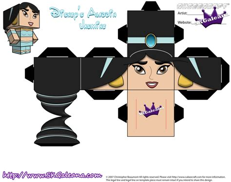 Disney Papercraft - disney princess cubeecraft part 1 by skgaleana on