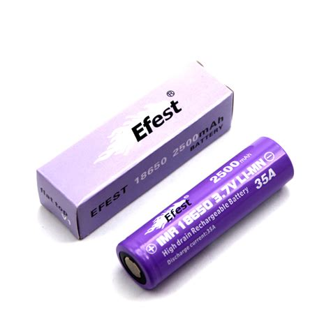 Efest 18350 Li Ion Protected Battery 900mah efest imr 18350 high drain li ion rechargeable battery