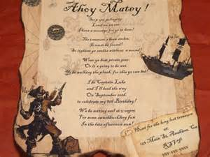 pirate invitations and pirate on