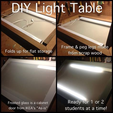 diy led light table diy light table room pizzazz diy light