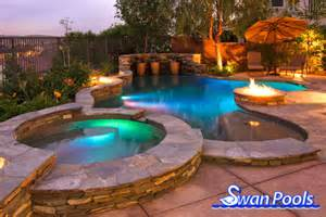 Swan pools custom designs swimming pool design gallery a perfect circle of entertainment