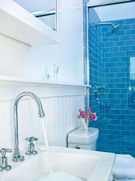 splash bathrooms small bathroom remodeling ideas ocean blue subway tiles