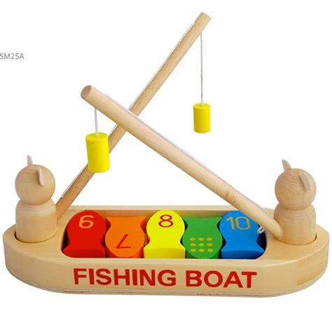 toy boat fishing wooden fishing boat fishing toys children wooden toys