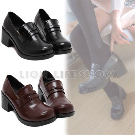 japanese shoes universal japanese school student jk leather