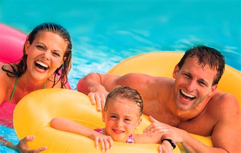 Family Swim Poll above ground pool transform your backyard into a vacation getaway