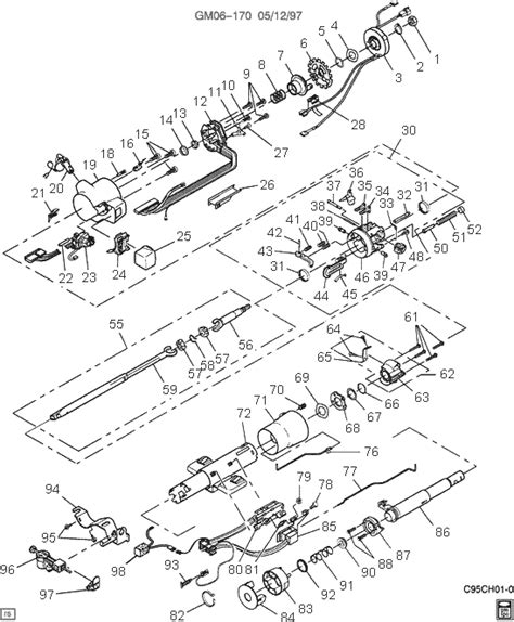 97 Buick Lesabre Parts Exploded View For The 1997 Buick Lesabre Tilt Steering