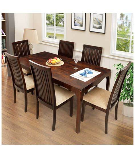 6 seater dining table buy elmond 6 seater dining set including dining table