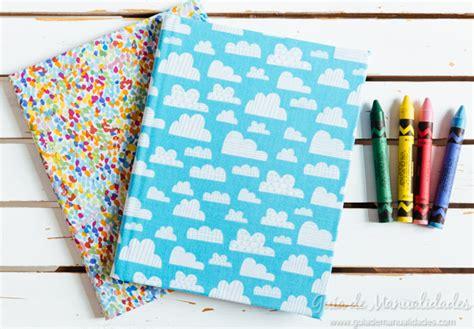 cuadernos decorados con tela - Cuadernos Decorados De Tela