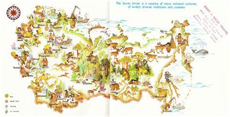russia tourism map tourist map of soviet union
