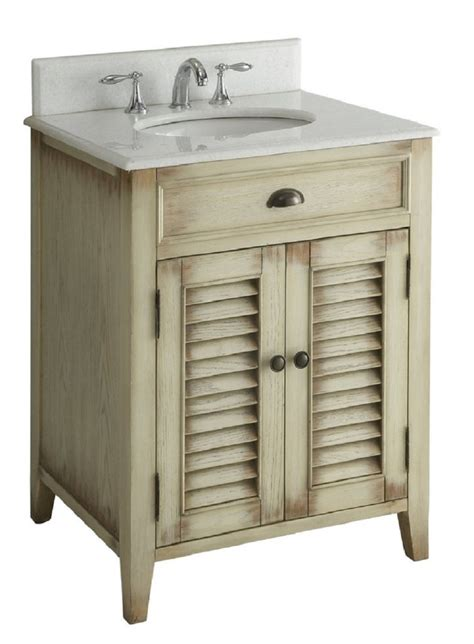 Cottage Vanity Cabinet by 26 Inch Bathroom Vanity Cottage Style Distressed Beige Color 26 Quot Wx21 75 Quot Dx34 Quot H Ccf28323