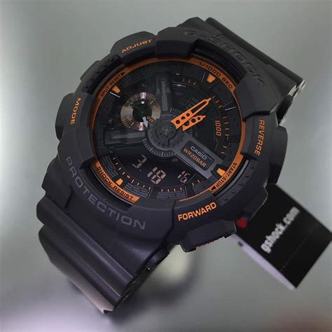 black casio g shock analog digital ga110ts 1a4 ebay