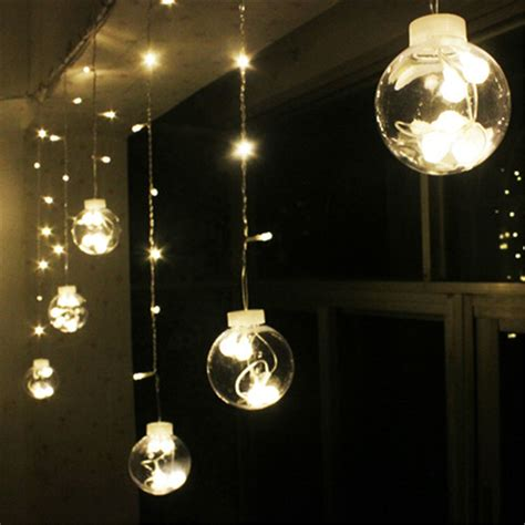 plastic globe string lights wedding decoration curtain led light plastic globe